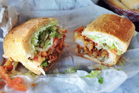 Parkway Bakery & Tavern serves some of the best po boy sandwiches in New Orleans