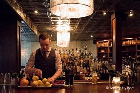 Dapper bartenders use boutique spirits, seasonal fruit and house-made syrups at The Patterson House, one of GAYOT's Top 10 Craft Cocktail Bars in the U.S.
