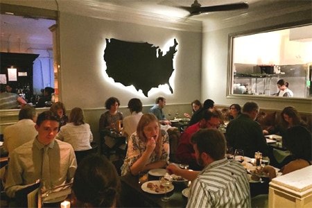 Pax Americana in Houston touts a tightly focused seasonal menu that's all-American, including the wines and cocktails