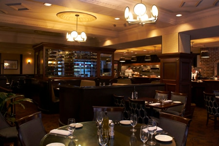 Dining room at Pazzo Ristorante, Portland, OR