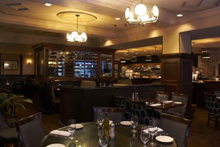 Dining room at Pazzo Ristorante, Portland, OR