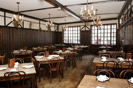 Dining room at Peter Luger, Brooklyn, NY