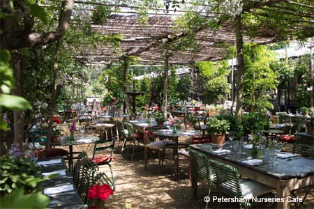 Dining Room at Petersham Nurseries Cafe, London,