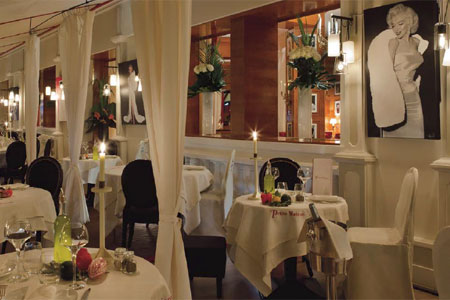 Dining room at La Petite Maison de Nicole, Paris, france