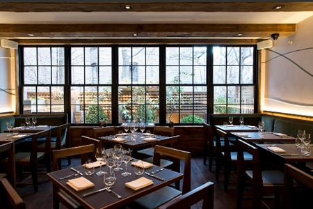 Dining room at Piora, New York, NY