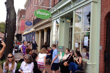 One of the Top 10 Ice Cream Shops in the U.S., Pitango Gelato presents fresh-made gelato consisting of fine, local ingredients and grass-fed milk.