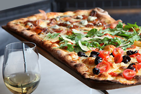 Pizza Rock offers one of the best happy hours in Las Vegas
