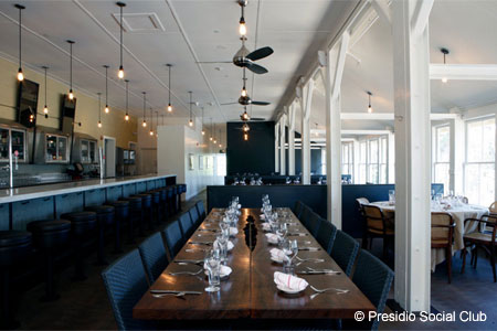 Dining Room at Presidio Social Club, San Francisco, CA