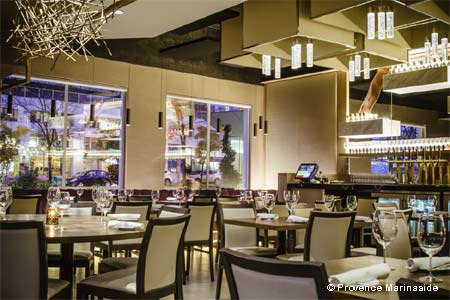 Dining Room at Provence Marinaside, Vancouver, BC