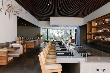 Enjoy a meal of innovative fare at Pujol restaurant in Mexico City