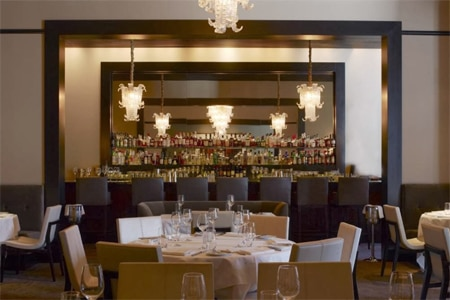 Dining room at Quince, San Francisco, CA