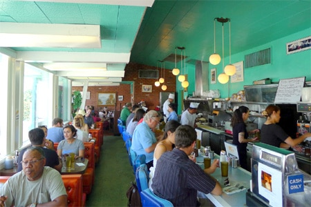 Dining Room at Rae's Restaurant, Santa Monica, CA
