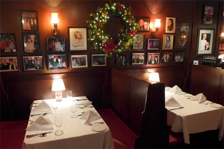 Dining room at Rao's, Los Angeles, CA