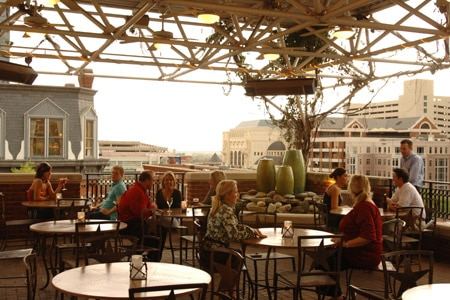In nice weather, a drink on the rooftop bar at Reata Restaurant in Fort Worth is a treat