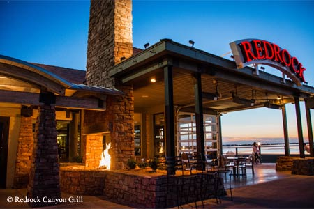 With its lake views, Redrock Canyon Grill is one of GAYOT's Best Romantic Restaurants in Oklahoma City