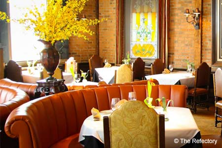 The Refectory restaurant presents classical French food in Columbus