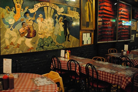 Dining Room at Charlie Vergos' Rendezvous, Memphis, TN