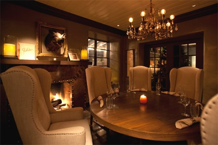 Dining room at Restaurant 1833, Monterey, CA
