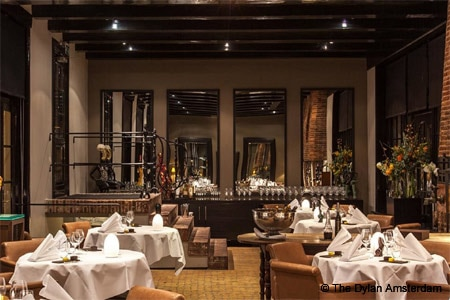 Vinkeles is a luxurious restaurant in The Dylan Amsterdam hotel