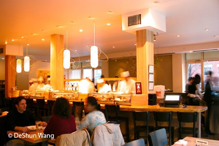 Dining room at Rise Sushi & Sake Lounge, Chicago, IL