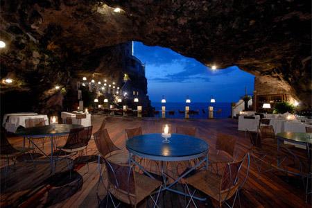 Ristorante Grotta Palazzese, Polignano a Mare, italy