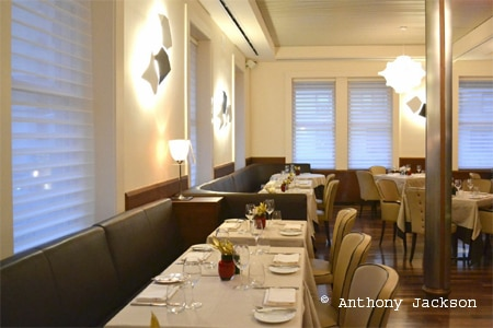 Dining room at Ristorante Morini, New York, NY