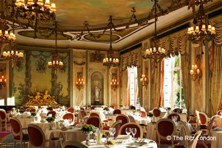 The Ritz restaurant has unquestionably one of the most beautiful dining rooms in London