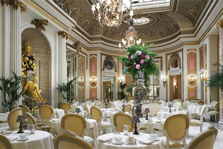 Dining Room at The Ritz Palm Court, London,