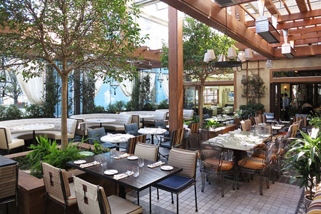 Dining Room at RivaBella, West Hollywood, CA