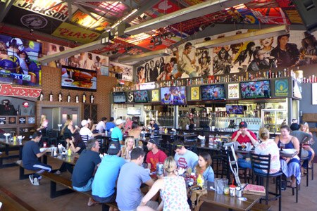 Dining room at Rock & Brews, El Segundo, CA