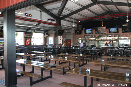 Dining room at Rock & Brews PCH, Redondo Beach, CA