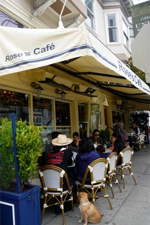 Dining room at Rose's Cafe, San Francisco, CA