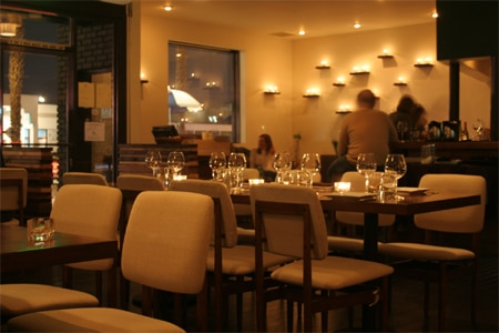 Dining room at Rustic Canyon Wine Bar & Seasonal Kitchen, Santa Monica, CA
