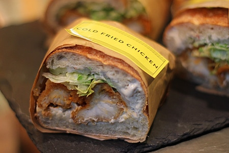 Enjoy gourmet sandwiches at chef Michael Voltaggio's Sack Sandwiches, one of GAYOT's Top 10 Cheap Eats Restaurants in Los Angeles