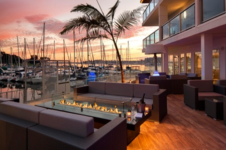 SALT Restaurant & Bar is surrounded by views of the marina and its yachts