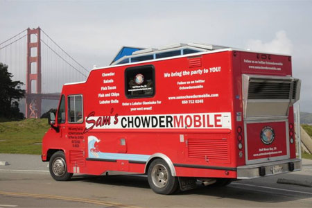 Sam's ChowderMobile is the food truck extension of Sam's Chowder House