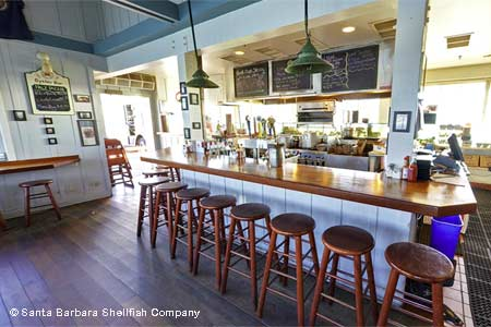 Enjoy fresh local seafood at Santa Barbara Shellfish Company in Santa Barbara