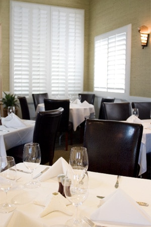 Dining room at Seagrass Restaurant, Santa Barbara, CA