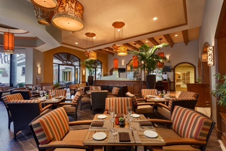 Dining room at Shades, Huntington Beach, CA