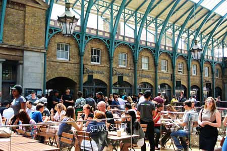 Dining room at Shake Shack, London, UK