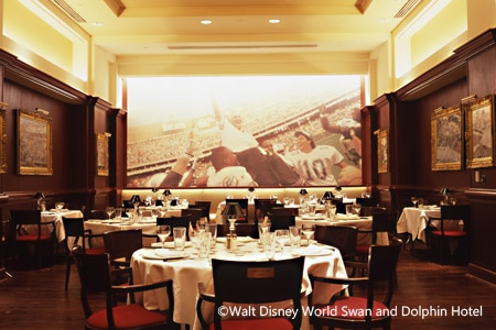 Dining room at Shula's Steak House, Lake Buena Vista, FL