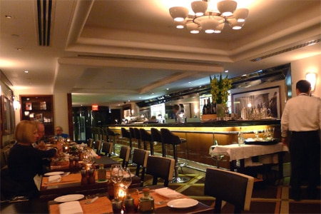 Dining room at Sirio Ristorante, New York, NY