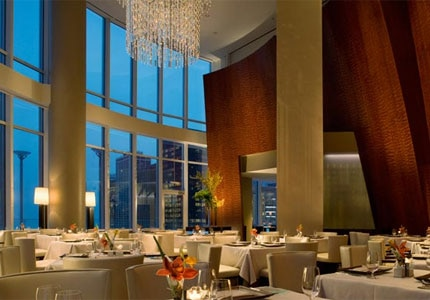 Dining room at Sixteen, Chicago, IL