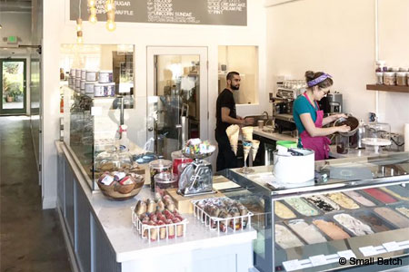A second Small Batch artisanal ice cream shop has opened in Los Angeles