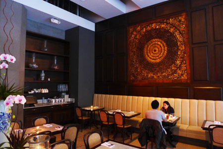 Dining room at Soi 7, Los Angeles, CA