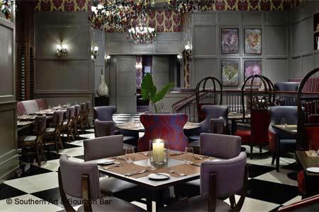 Dining Room at Southern Art & Bourbon Bar, Atlanta, GA
