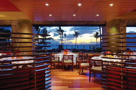 Dining room at Spago, Wailea, HI