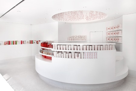 Dining room at Sprinkles Ice Cream, Beverly Hills, CA