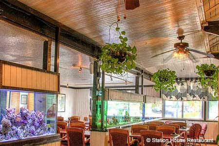 Dining Room at Station House Restaurant, Lantana, FL