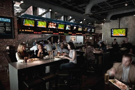 Dining room at STATS, Atlanta, GA